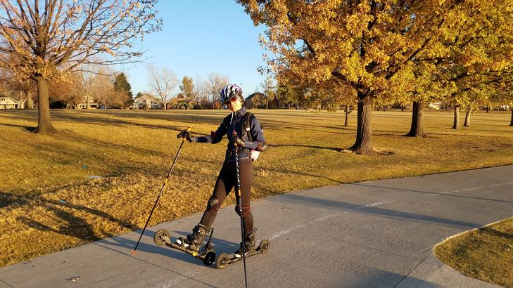 Photo of Jing Liu Nordic Skating at Sloan's Lake Denver, CO