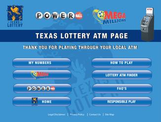 Atm machine lottery