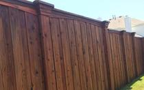 Board on Board Fence with Custom Trim & Corbels