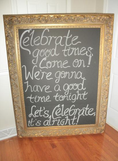 "This is a 59"" tall rental chalkboard ready for chalkboard calligraphy."