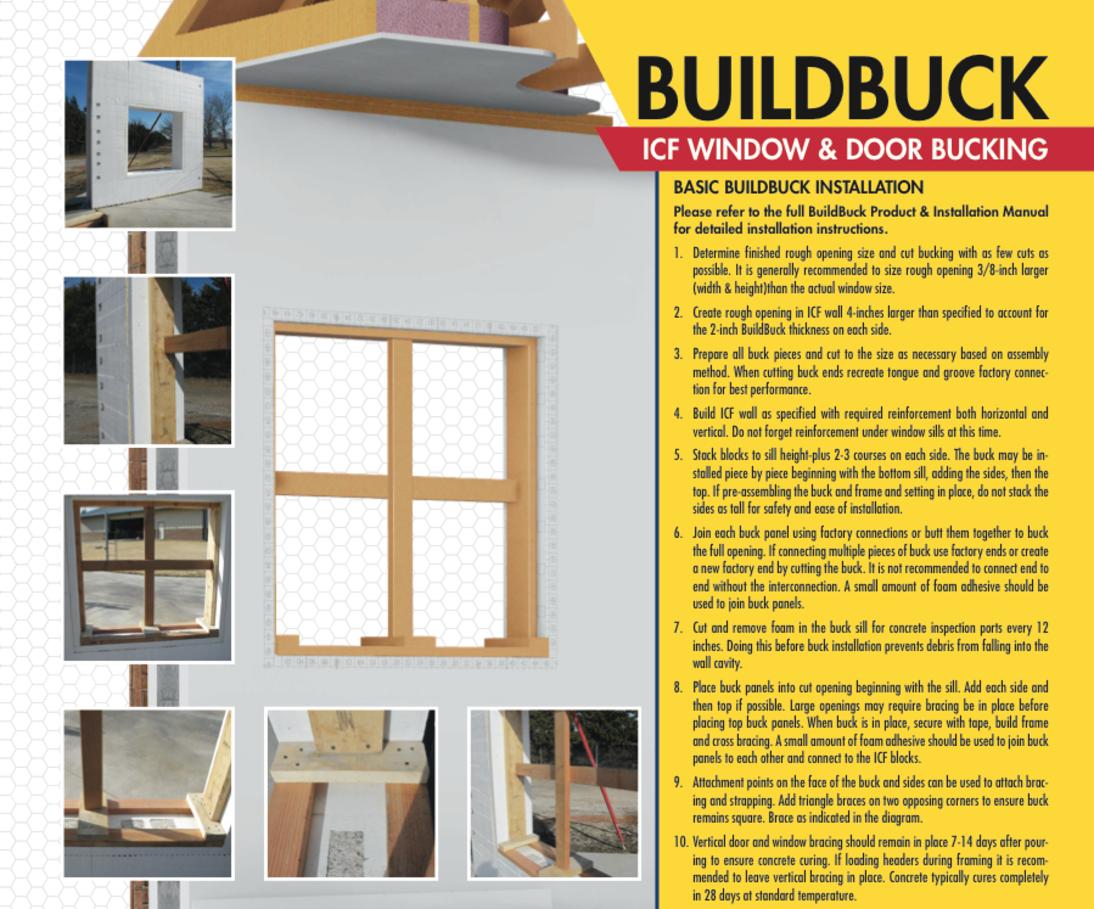 Icf Insulated Window Buck