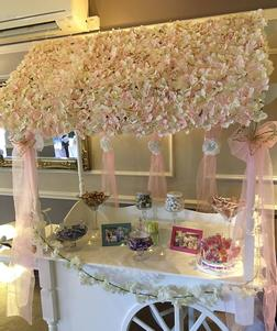 "alt=""flower roof candy cart hire sussex"""