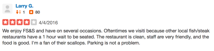 Yelp Review for Filet Steak and Seafood Greensboro GA