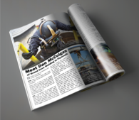 magazine mock up for Grand Cove Welding