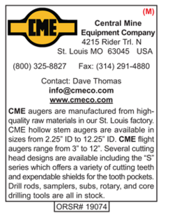 Drilling Tools, CME, Central Mine Equipment