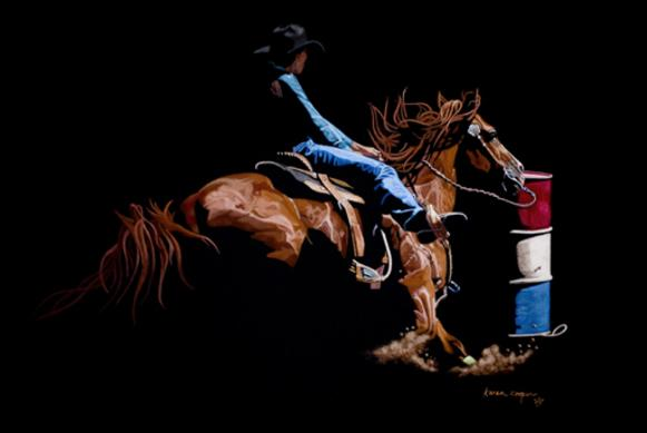 Rounding the Last Can...Pastel...18x24...$3,350.00
