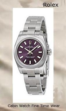 Rolex Oyster Perpetual Automatic Purple Dial Stainless Steel Ladies Watch 176200PUSO,rolex yacht master