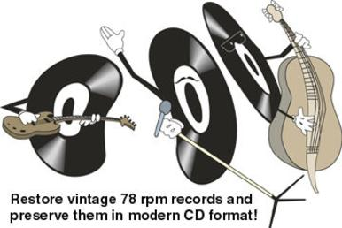 Convert 78 rpm records to CD format.