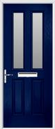 2 panel 2 square composite glazed front door