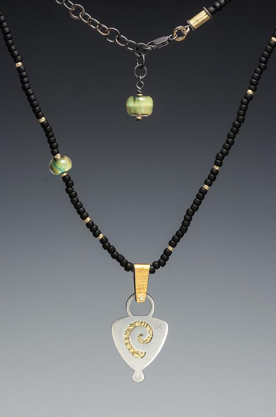 N-105 back of Reflection necklace - Carol Holaday