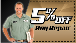 Get 5 percent off any heating and cooling system repair from Jerrys Mechanical