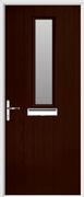 1 Square Composite Door obscure glass