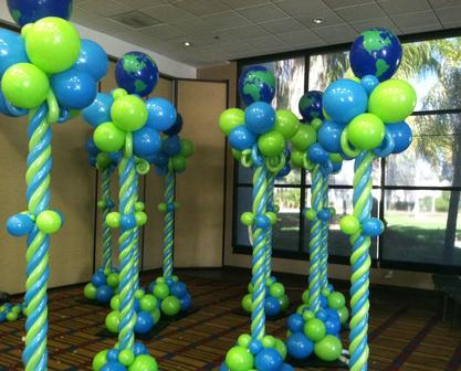 Earth Day Event Balloon Columns