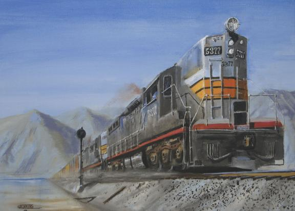 railroad train painting Southern Pacific