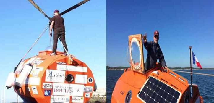 A 71-Year-Old French Man is trying to cross the Atlantic Ocean in a barrel