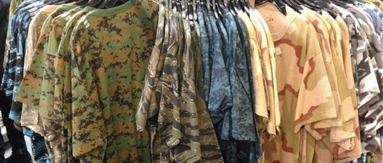 CAMOUFLAGE T-SHIRTS PANTS SHORTS