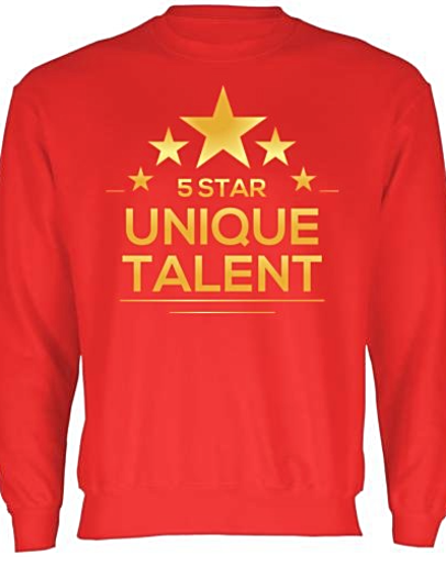 Red Dance Sweatshirt 5 Star Unique Talent