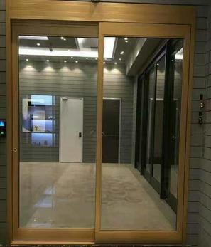 Breakout automatic sliding door