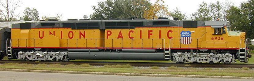 Union Pacific 6936, the sole surviving operational EMD DDA-40X.