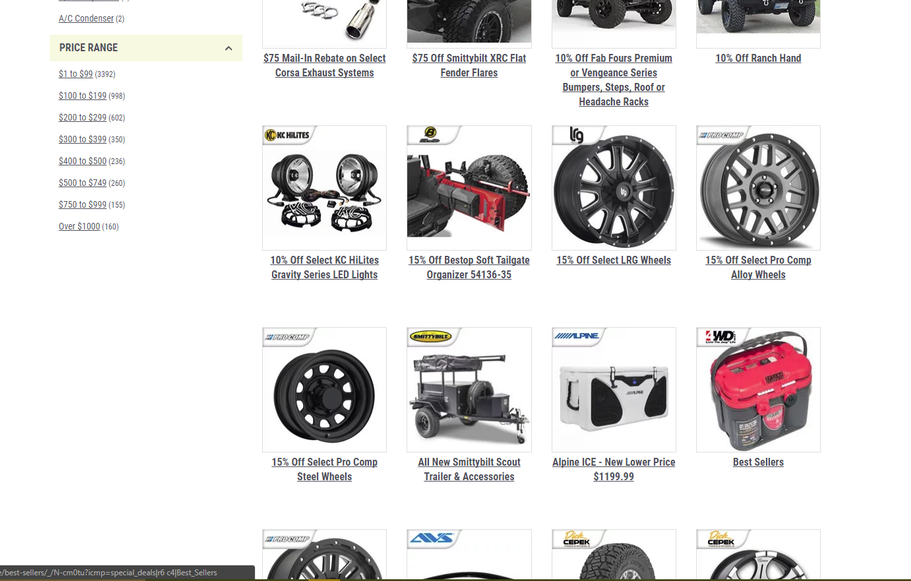 Huge Savings on Jeep Tires/Wheels, Parts, Accessories, & More at 4WD.com. Shop Now!