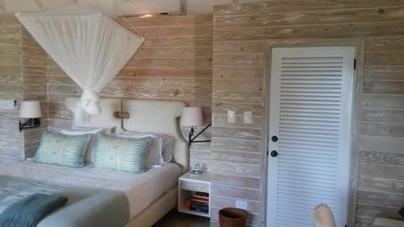 White wash Pecky Cypress T&G Accent Wall