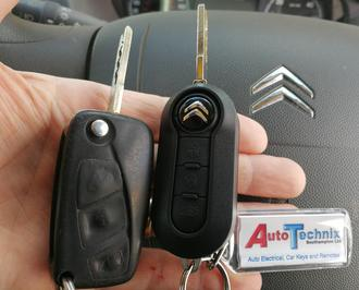 Citroen Relay replacement remote flip key