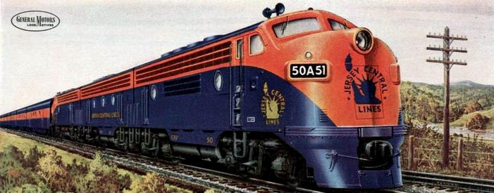 Central Railroad of New Jersey EMD F3 No. 50A51, ca. 1948.