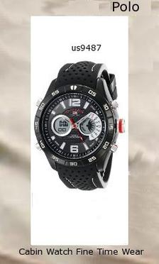 Watch Information Brand, Seller, or Collection Name U.S. Polo Assn. Model number US9487 Part Number US9487 Item Shape Round Dial window material type Glass Display Type Analog and digital Clasp Buckle Case material Metal Case diameter 48 millimeters Case Thickness 17 millimeters Band Material Silicone Band length Men's Standard Band width 24 millimeters Band Color Black Dial color Black Bezel material Metal Bezel function Stationary Calendar Day, date, and month Movement Analog quartz