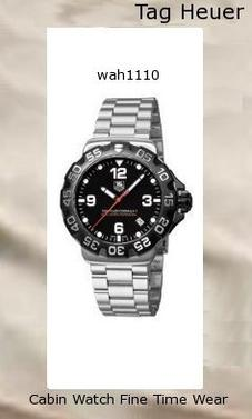 Watch Information Brand, Seller, or Collection Name TAG Heuer Model number WAH1110.BA0858 Part Number WAH1110.BA0858 Model Year 2011 Item Shape Round Dial window material type Anti reflective sapphire Display Type Analog Clasp Fold-Over Clasp with Safety Case material Stainless steel Case diameter 41 millimeters Case Thickness 12 millimeters Band Material Stainless steel Band length Men's Standard Band width 20 millimeters Band Color Silver Dial color Black Bezel material Stainless steel Bezel function Unidirectional Calendar Date Special features Depth measur,tag heuer