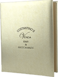 Gold Menu Cover