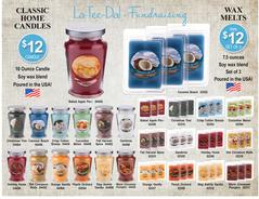LaTeeDa Jar Candles Wax Melts Fundraiser