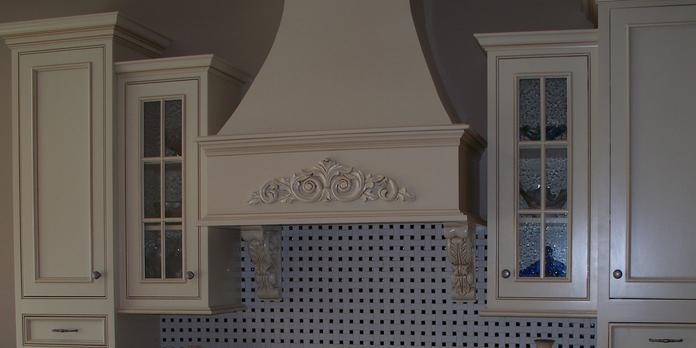 Custom Built Wood Hood Virginia Cabinetry