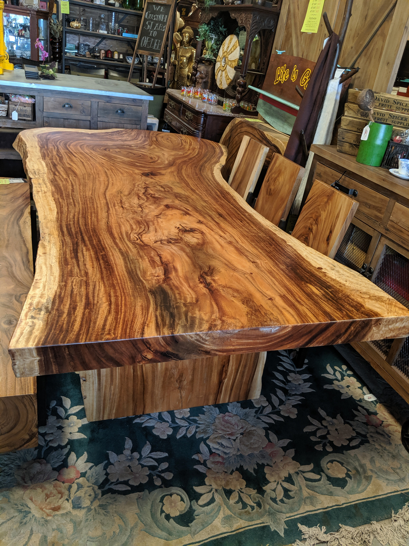Live Edge Slab Wood Dining Tables Decor Direct Wholesale Warehouse