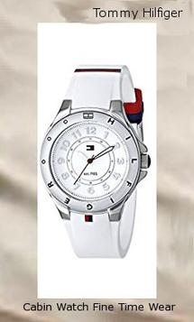 Product specifications Watch Information Brand, Seller, or Collection Name Tommy Hilfiger Model number 1781271 Part Number 1781271 Model Year 2011 Item Shape Round Dial window material type Mineral Display Type Analog Clasp Buckle Case material Stainless steel Case diameter 34 millimeters Case Thickness 10 millimeters Band Material Silicone Band length Women's Standard Band width 20 millimeters Band Color White Dial color White Bezel material Stainless steel Bezel function Stationary Special features measures-seconds Item weight 4.64 Ounces Movement Quartz Water resistant depth 99 Feet
