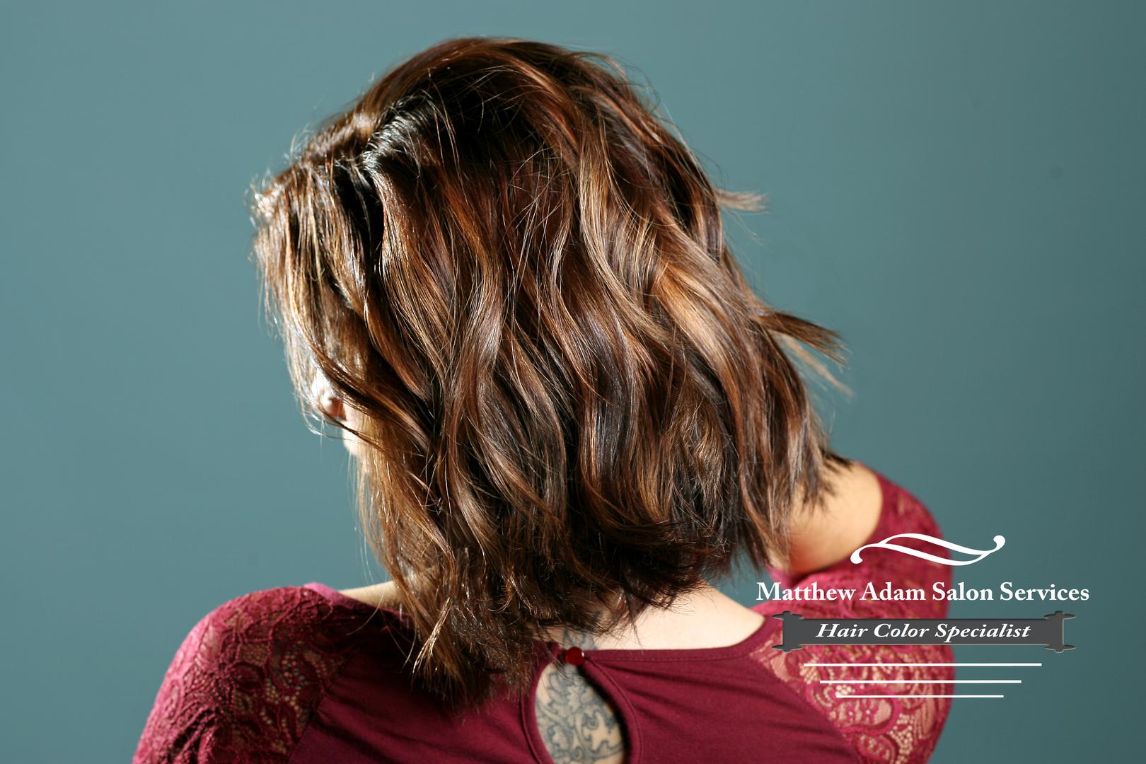 Hair Color Salon In Addison Matthew Adam Salon Services