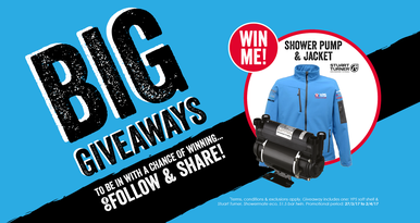 Stuart turner showermate pump and YPS jacket to win