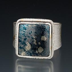 Carol Holaday - Pyrite in agate ring