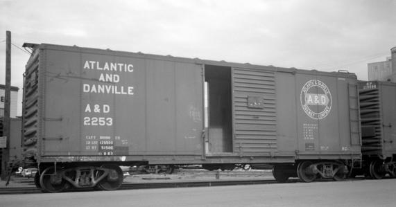 Atlantic and Danville Railway boxcar no. 2253.