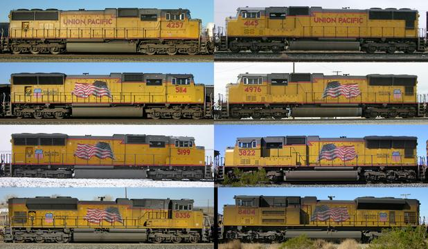 EMD SD70 series model change comparison.