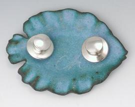 Carol Holaday - back of enameled fish with two pins