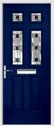 2 Panel 4 Square Composite Door aspen glass