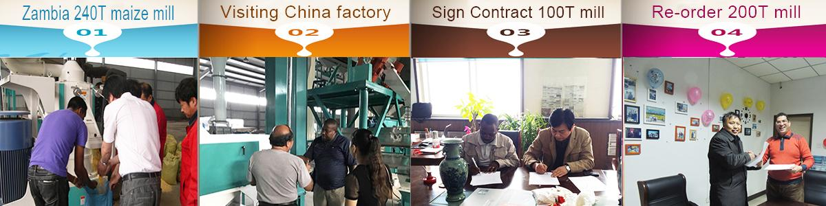 clients from different countries for maize milling machine