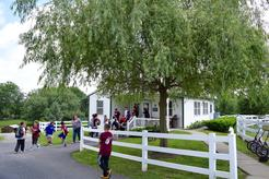 Amish one-room schoolhouse exterior