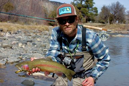Ryan McVay with a quality wild Paco 'bow captured on a cranefly larva pattern.