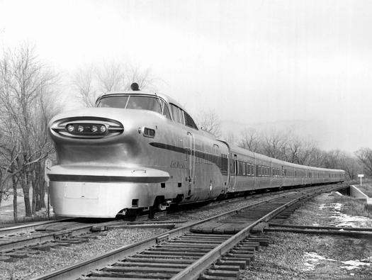The Rock Island Railroad's Jet Rocket Aerotrain.