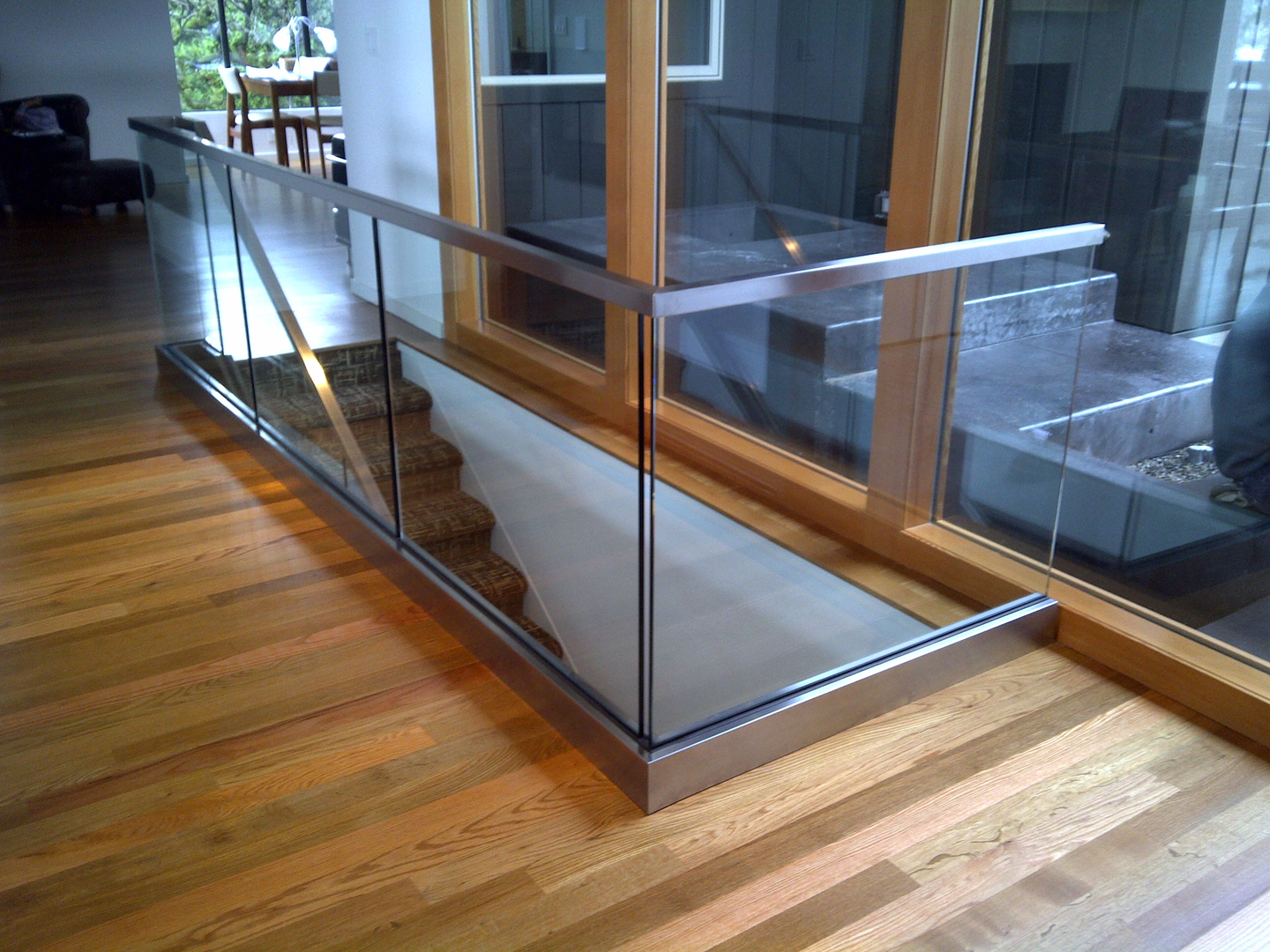 services residential interior rails glass peninsula systems stair guard sf hand and glasshandrailandguardrailsystems railing