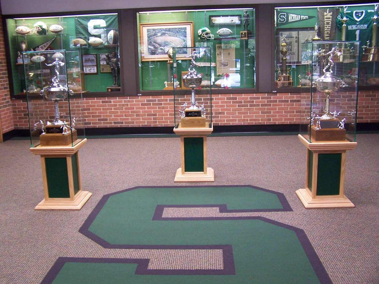 Michigan State Football Trophies