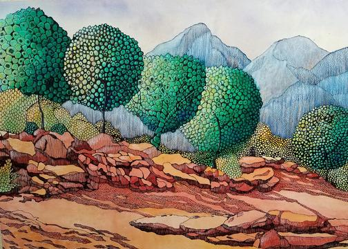Natural Accents Gallery of Taos - Featuring the Fine Art of Artist Sandy Applegate, Mixed Media Artist