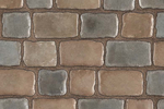 Unilock Concrete Paver in Courtstone Mixed Colors Dawn Mist and Pebble Taupe
