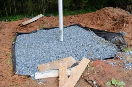 How to make a dry well for gray water for French drain collection box